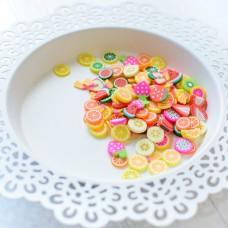 Pretty Pink Posh - Clay Embellishments - Fresh Fruit
