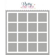 Pretty Pink Posh - Grid Stencil