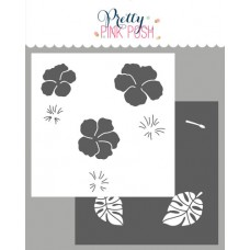 Pretty Pink Posh - Hibiscus Flowers Stencils (2 Pack)