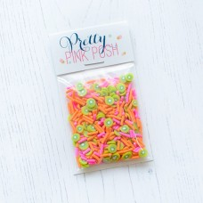 Pretty Pink Posh - Clay Embellishments - Kiwi Melon