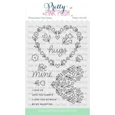 Pretty Pink Posh - Large Floral Hearts