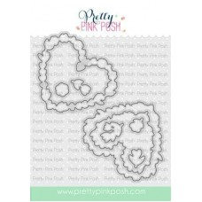 Pretty Pink Posh - Large Floral Hearts Coordinating Dies