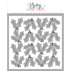 Pretty Pink Posh - Layered Holly Stencils (3 Pack)