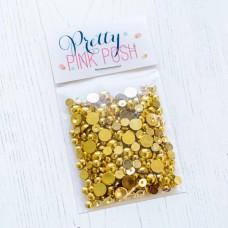 Pretty Pink Posh - Metallic Gold Pearls