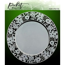 Picket Fence Studios - Ring of Flowers Stencil