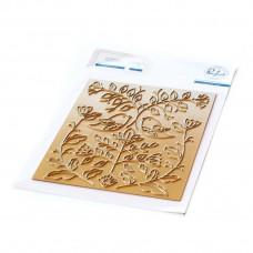 Pinkfresh Studio - Folk Art Birds hot foil plate
