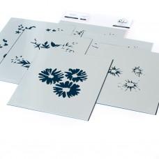 Pinkfresh Studio - Floral Bunch layering stencils
