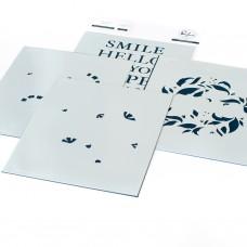 Pinkfresh Studio - Reason To Smile Wreath layering stencil set