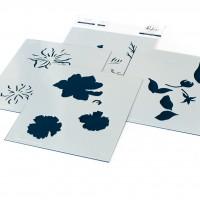 Pinkfresh Studio - It's a New Day Floral layering stencil set