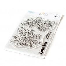 Pinkfresh Studio - Happy Blooms Floral stamp set