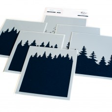 Pinkfresh Studio - Wintry Forest layering stencil set