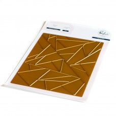 Pinkfresh Studio - Abstract Triangles hot foil plate