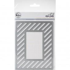 Pinkfresh Studio - Diagonal Stripes With Window die