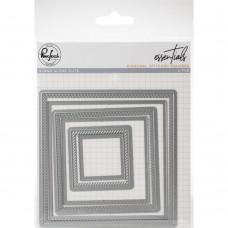 Pinkfresh Studio - Essentials: Diagonal Stitched Squares die set