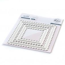 Pinkfresh Studio - Essentials: Stitched Scallop Square Dies