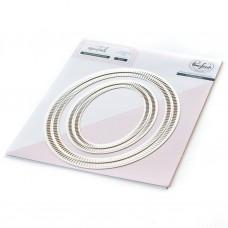 Pinkfresh Studio - Essentials: Blanket Stitched Oval Dies