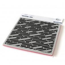 Pinkfresh Studio - Diagonal Bars Cling Rubber Stamp