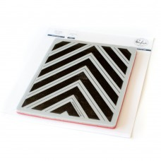 Pinkfresh Studio - Pop Out: Nested Chevron Cling Stamp Set