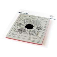 Pinkfresh Studio - Pop Out: Hexagons Cling Stamp Set