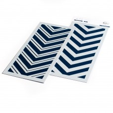 Pinkfresh Studio - Slim: Double Chevron Layering stencil set