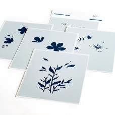 Pinkfresh Studio - Garden Florals layered stencil set