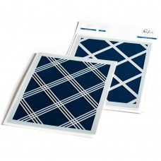 Pinkfresh Studio - Diamond Plaid layering stencil set