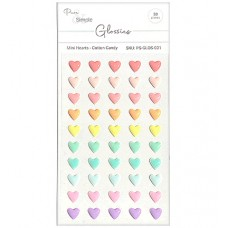 Pure and Simple - Glossies - Mini Hearts - Cotton Candy