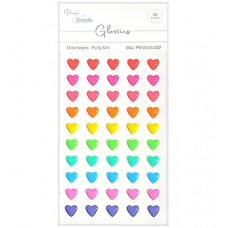Pure and Simple - Glossies - Mini Hearts - Party Mix