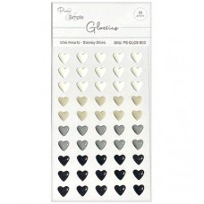 Pure and Simple - Glossies - Mini Hearts - Stormy Skies