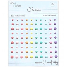 Pure and Simple - Glossies - Dots - Cotton Candy