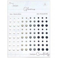 Pure and Simple - Glossies - Dots - Stormy Skies
