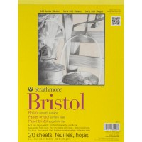 """Strathmore - Bristol Smooth Paper Pad 9"""" x 12"""" (20 sheets)"""
