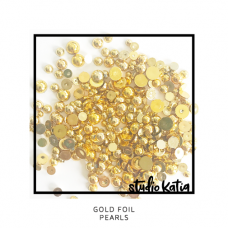 Studio Katia - Gold Foil Pearls