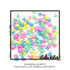 Studio Katia - Rainbow Hearts Polymer Clay