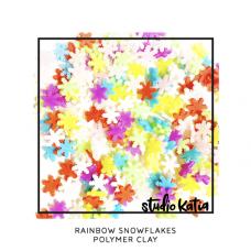 Studio Katia - Rainbow Snowflakes Polymer Clay