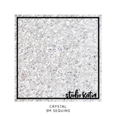 Studio Katia - 3 mm Sequins - Crystal Clear