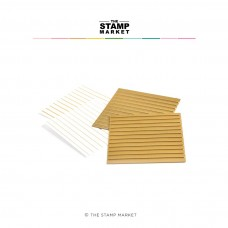 The Stamp Market - Bitty Backgrounds Stripes Foil Plates