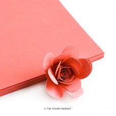The Stamp Market - Papaya Cardstock (4 sheets)