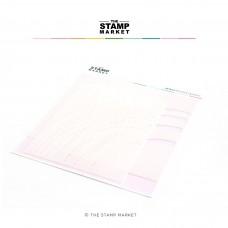 The Stamp Market - Rainbow Stitches Stencil