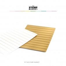 The Stamp Market - Simple Stripes Foil Plate