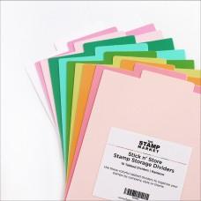 The Stamp Market - Stick n' Store Stamp Storage Dividers - Regular - Rainbow