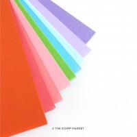 The Stamp Market - Color Crush Cardstock June Assortment (9 colors - 1 sheet per color)