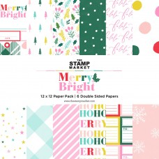 The Stamp Market - Merry & Bright 12 x 12 Paper
