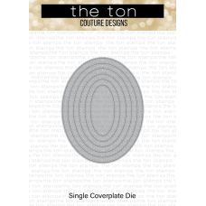 The Ton - Double Pierced Oval Coverplate Die