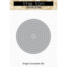 The Ton - Double Stitched Circle Coverplate Die