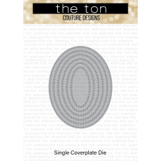 The Ton - Double Stitched Oval Coverplate Die