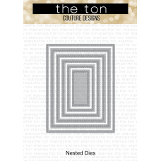 The Ton - Double Stitched Rectangle A2 Nested Dies