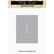 The Ton - Double Stitched Rectangle A2 Coverplate Die