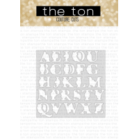 The Ton - Layered Floral Alphas Coordinating Coverplate Die