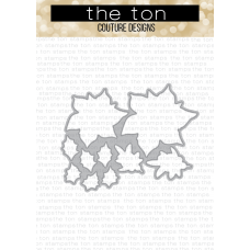 The Ton - Poinsettia Wishes Coordinating Die